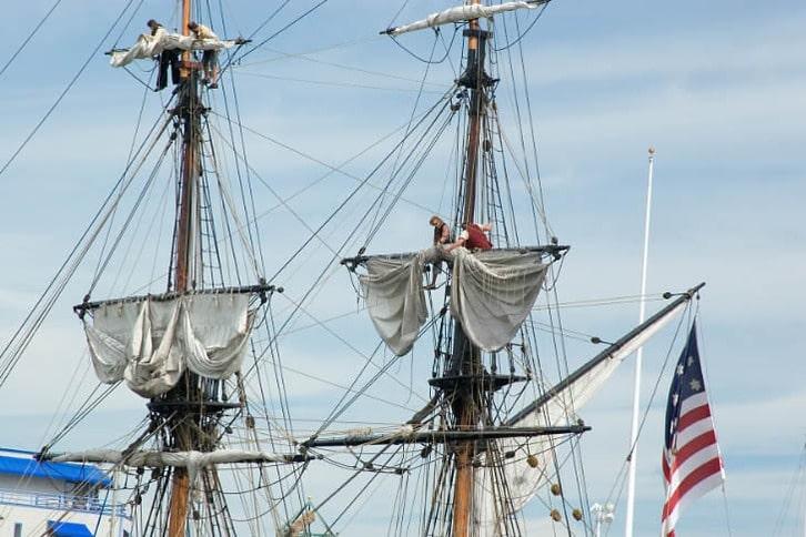 Furling the Sails on Lady Washington