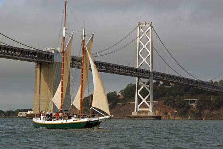 Gas Light Passing the Bay Bridge
