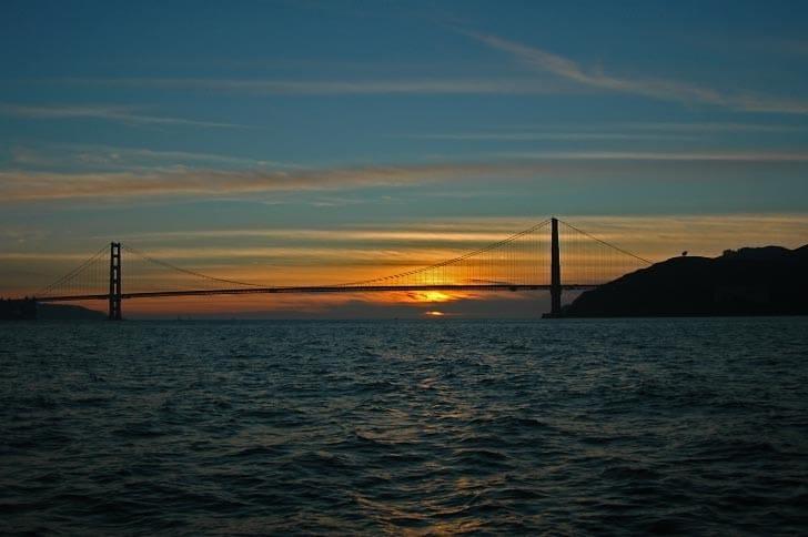 Golden Sunset at the Golden Gate