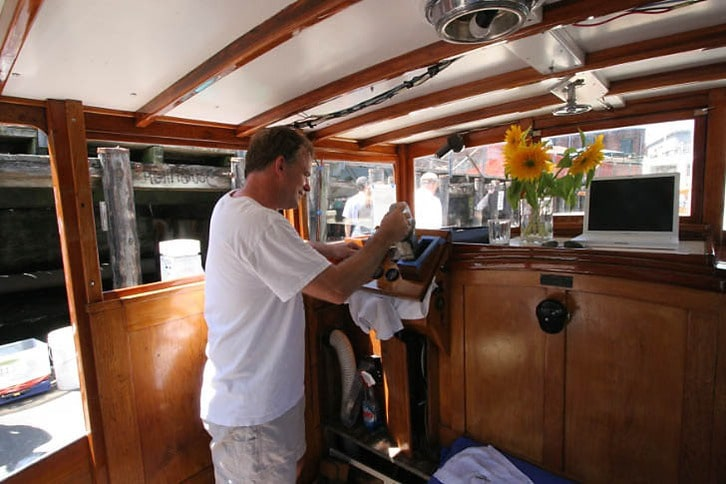 Greg Sabourin at Work on Board Killara