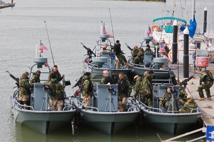 Heavily Armed Small Patrol Boats