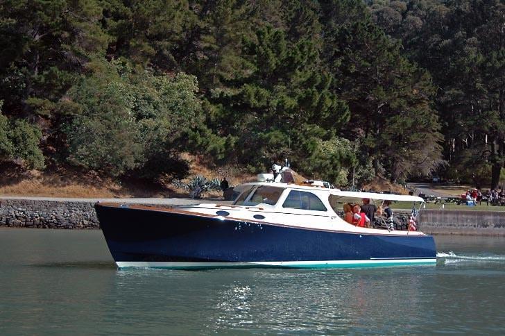 Hinckley Picnic Boat at Angel Island