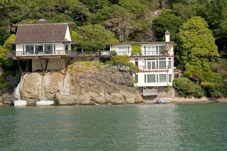 Homes Perched on a Rock in Belvedere