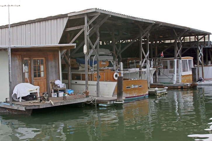 Houseboat and Covered Slips in San Rafael