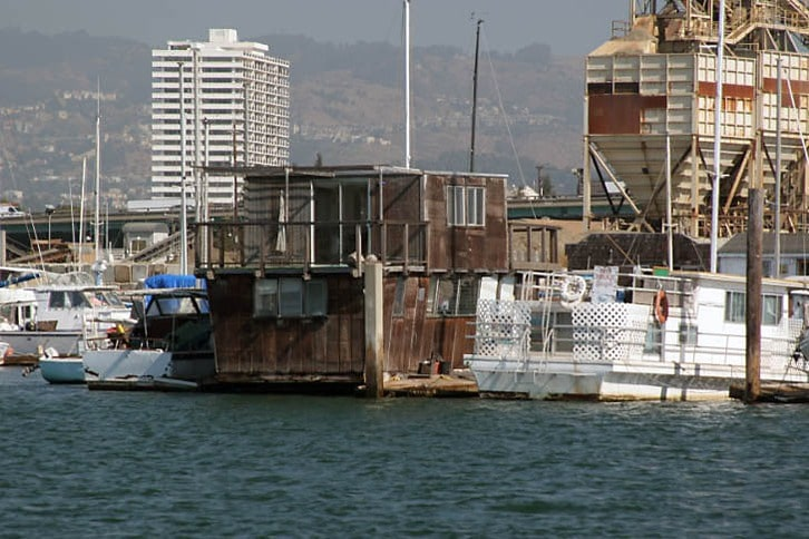 Houseboat on the Oakland Estuary (at Embarcadero Cove)
