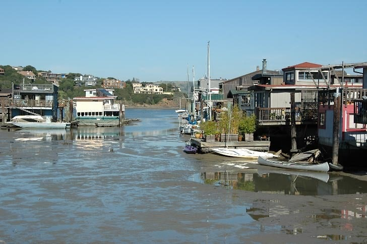 Houseboats at Low Tide