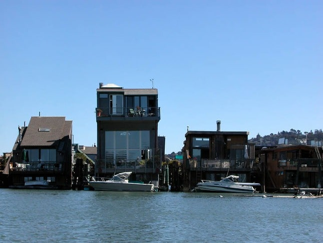 Sausalito houseboats at Waldo Point