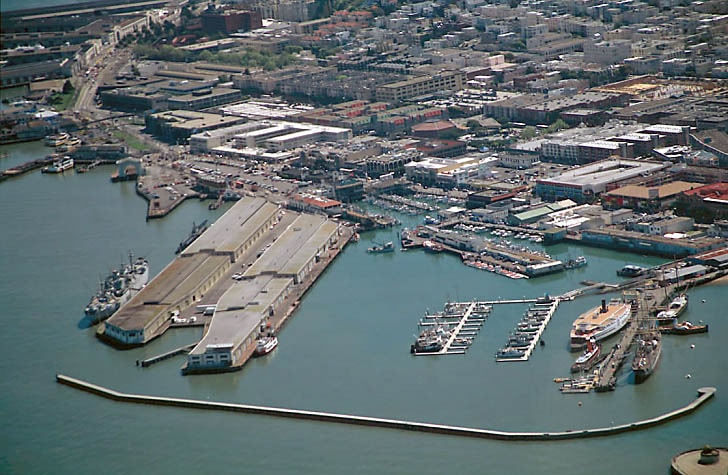 Hyde St. Pier and Fisherman's Wharf Aerial