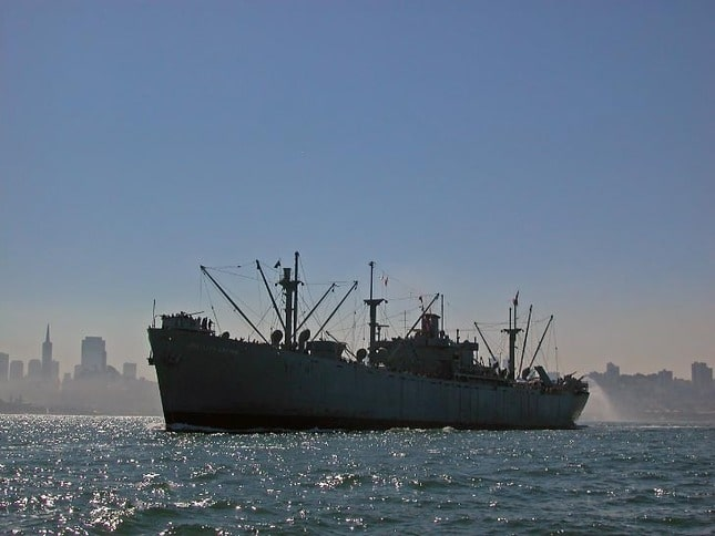 Jeremiah O'Brien Cruising San Francisco Bay
