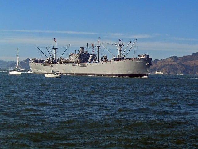 Jeremiah O'Brien Liberty Ship on San Francisco Bay