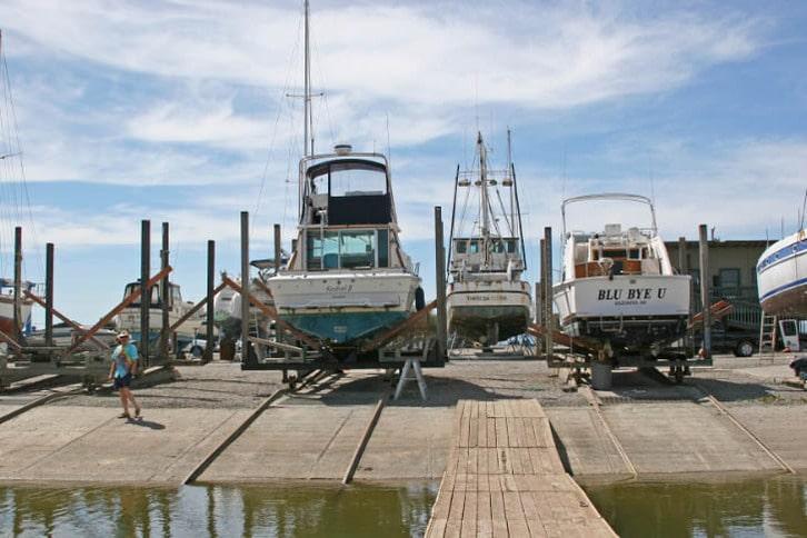 Kestrel II Hauled Out at Napa Valley Marina