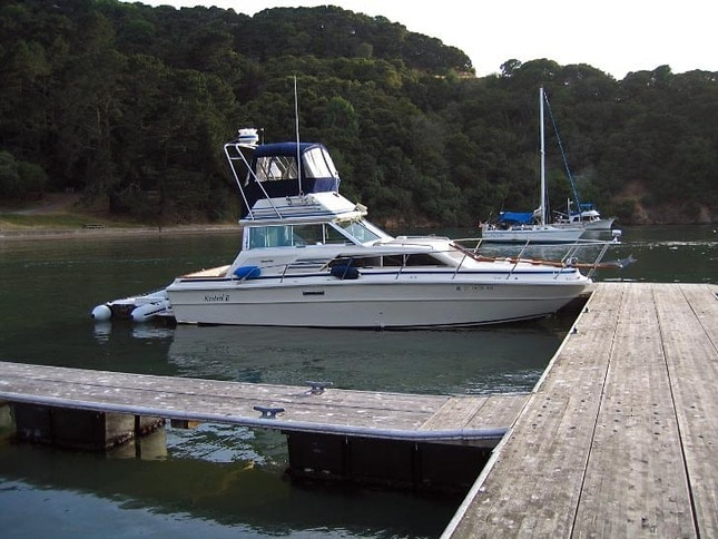 Kestrel II at Ayala Cove