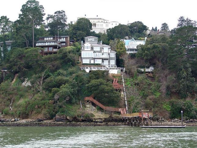 Large Belvedere Hillside Homes