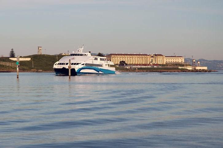 Larkspur Ferry Passes San Quentin