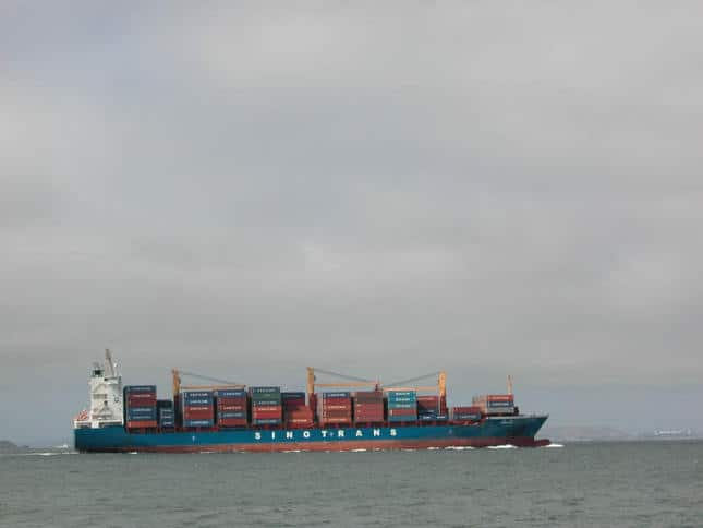 Loaded Container Ship Sinotrans