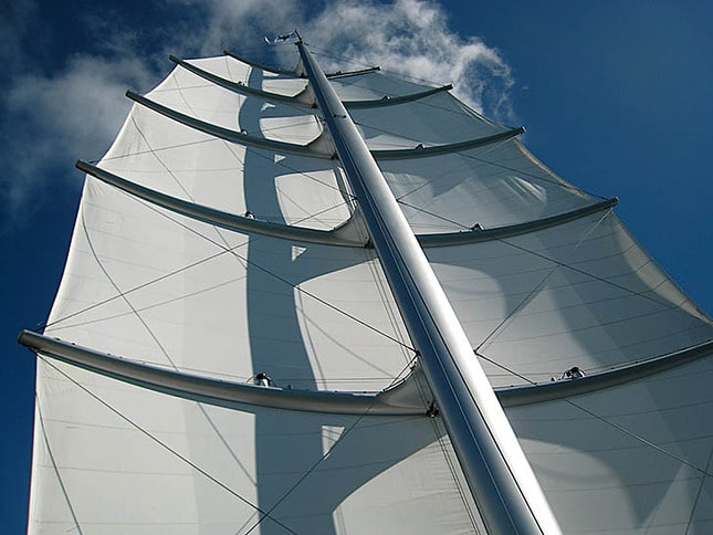 Looking Up a Mast on the Maltese Falcon