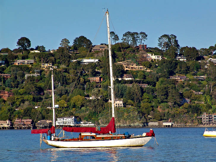 Lovely Yawl in the Sausalito Anchorage