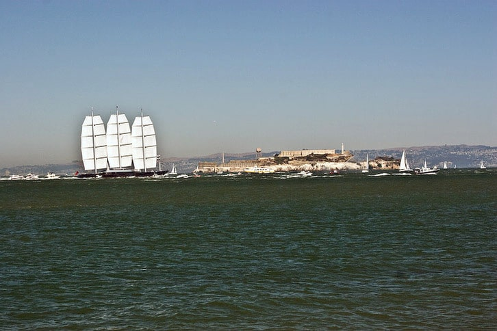 Maltese Falcon Approaches Alcatraz