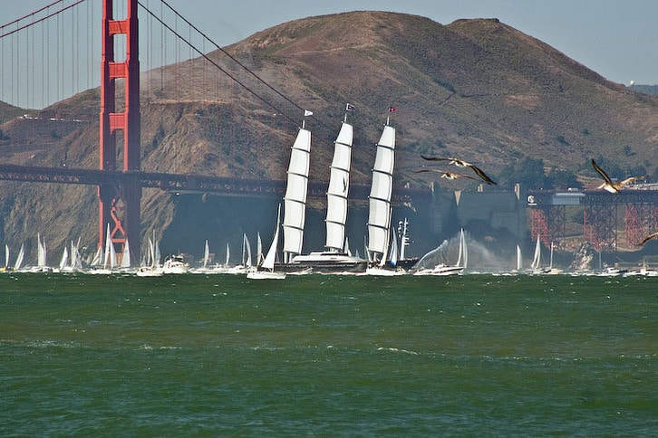 Maltese Falcon Enters San Francisco Bay