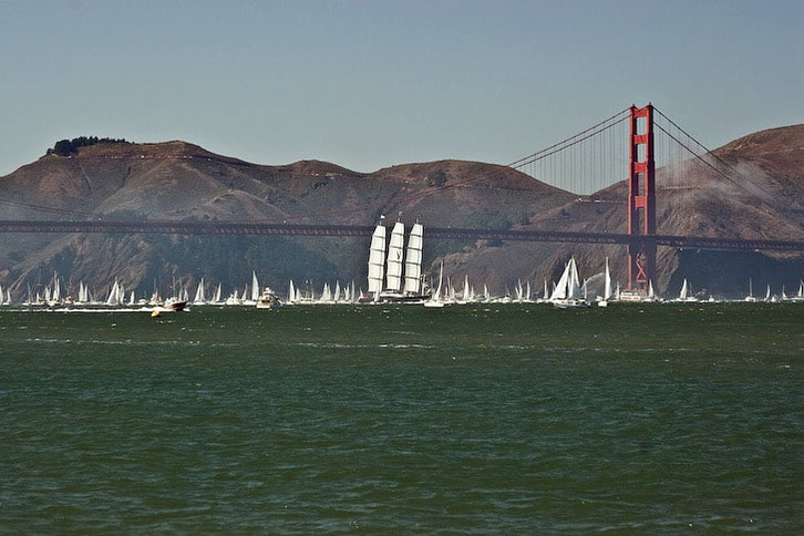 Maltese Falcon and the Spectator Fleet at the Golden Gate