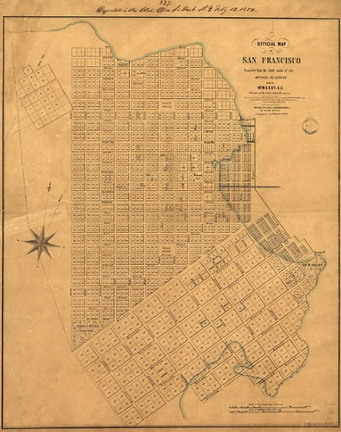 Map of Early San Francisco