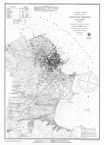 Map of San Francisco at End of the Gold Rush