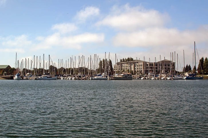 Marina Along the Oakland-Alameda Estuary