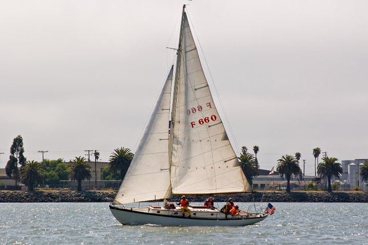 Medium Sized Sailboat