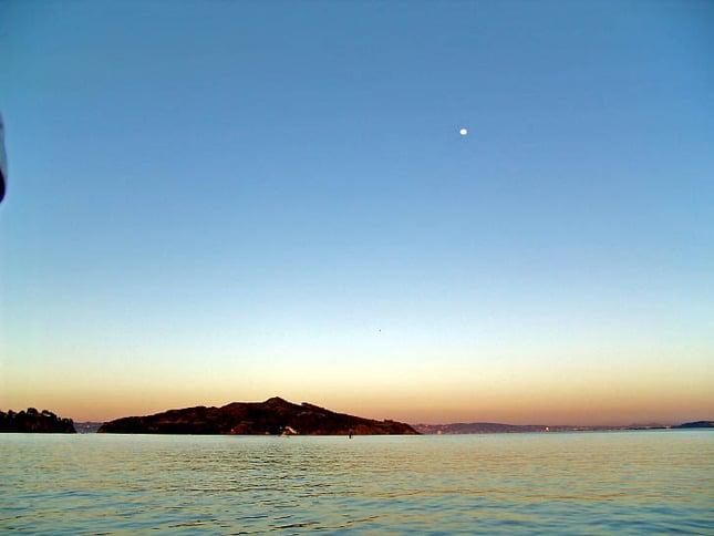 Moonrise Over Angel Island