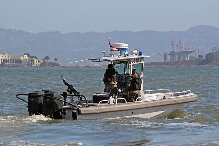 Navy Security Boat During Fleet Week
