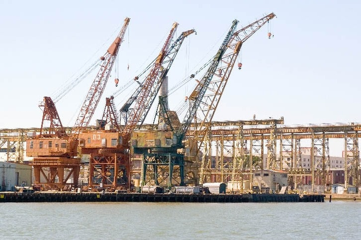 Old Cranes at the Mare Island Naval Station
