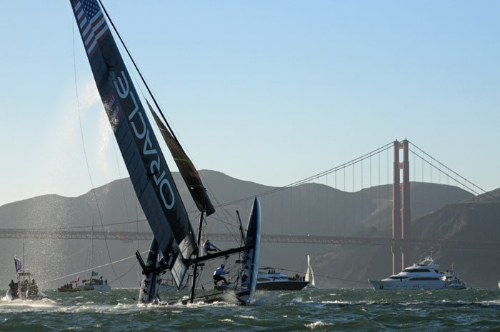 Oracle AC45 Capsizes in San Francisco Race