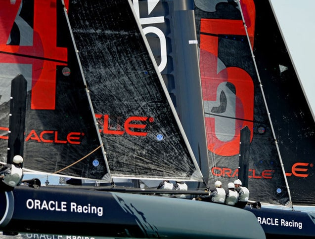 Oracle Racing AC45 Close-Up on SF Bay