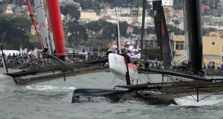 Oracle Team and Prada in Close Quarters