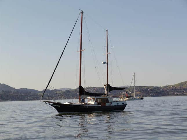 Pilothouse Ketch Anchored in Richardson Bay
