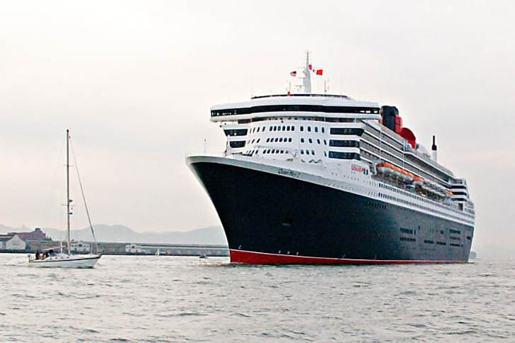 Queen Mary 2's Shapely Bow