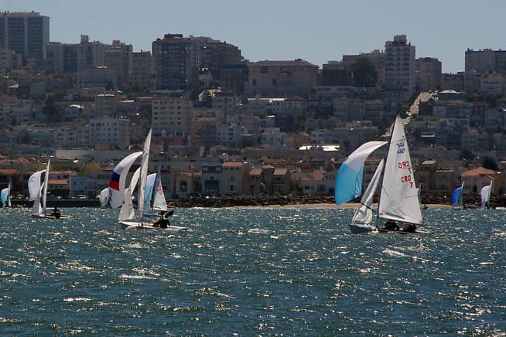 Racing Downwind Along the Cityfront
