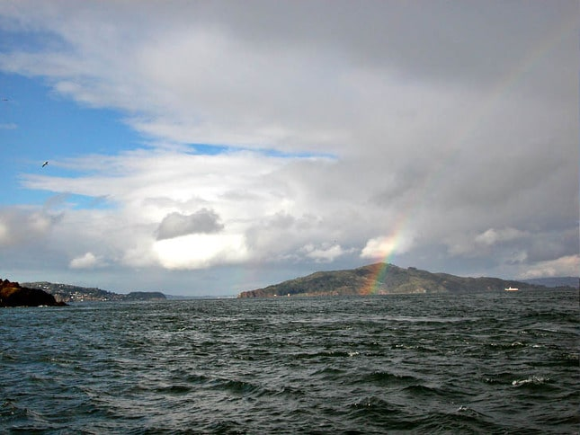 Rainbow over Angel Island