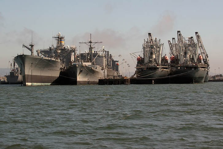 Ready Reserve Fleet Ships in Alameda