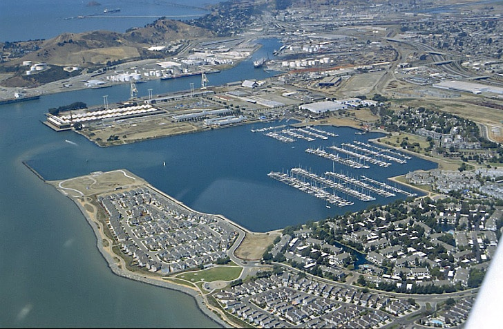 Richmond Harbor and Marinas Aerial