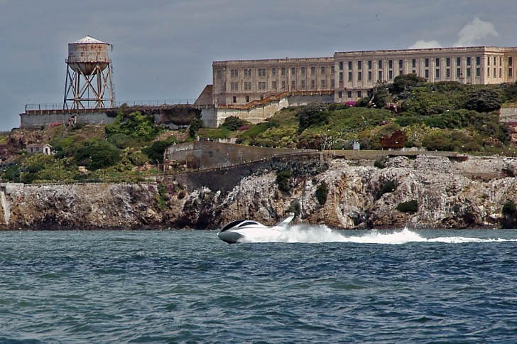 Russian-Built 'Ellips' Passes Alcatraz