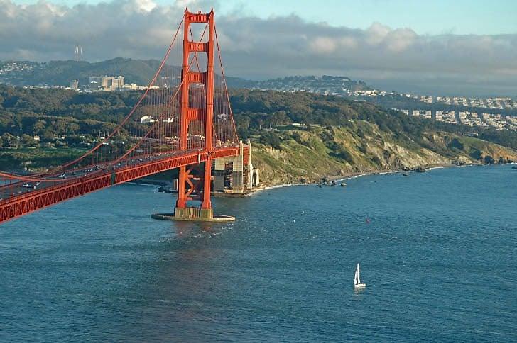 Sailboat Entering the Golden Gate