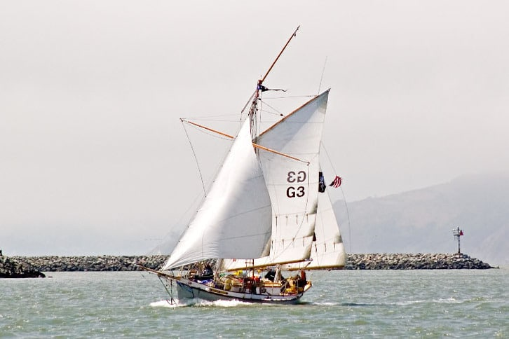 Sailboat Pushing Forward