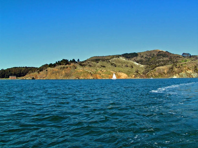 Sailing Past Angel Island