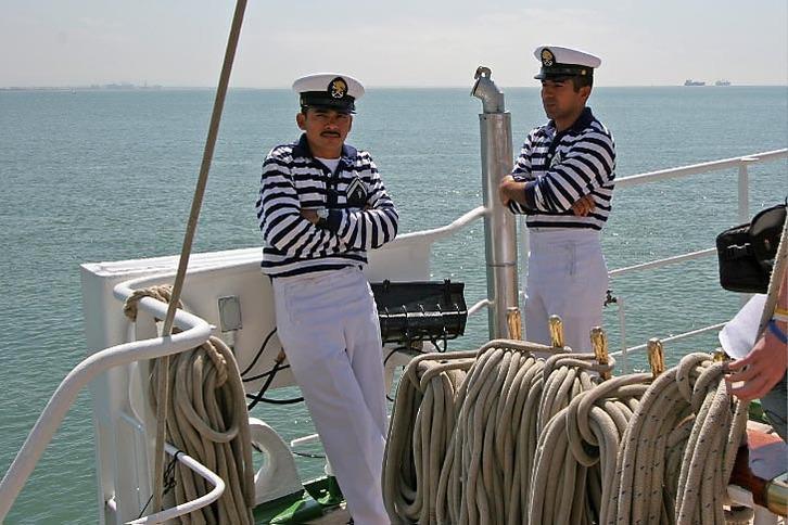 Sailors on Cuauhtemoc