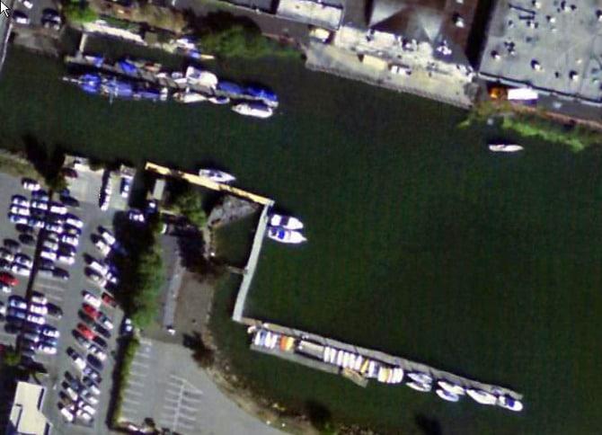 San Rafael Yacht Club Aerial