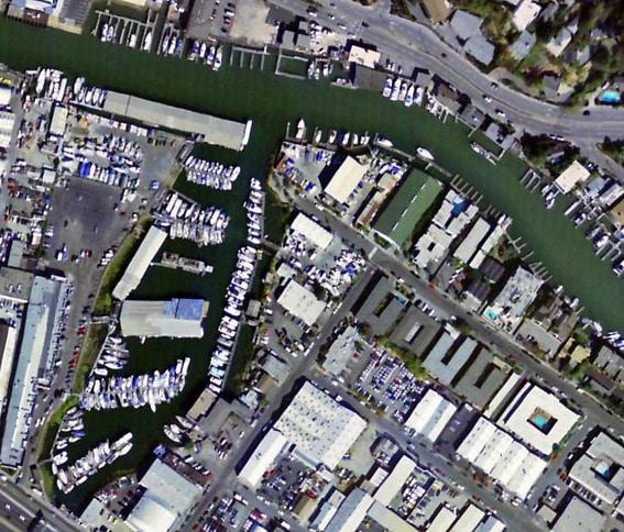 San Rafael Yacht Harbor Aerial