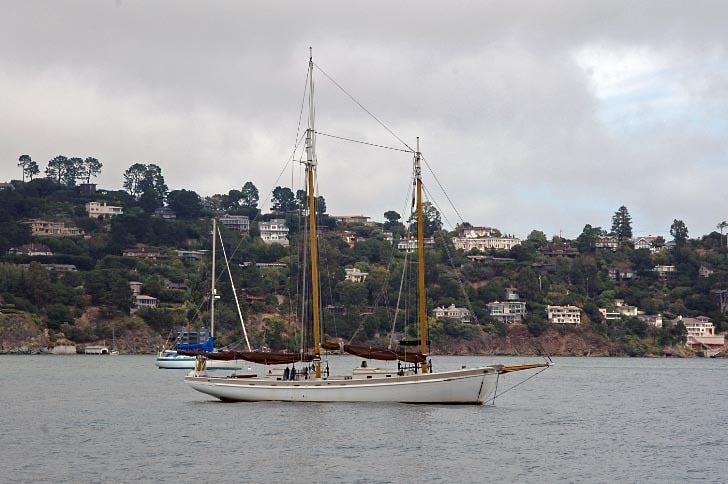 Schooner in Richardson Bay Anchorage