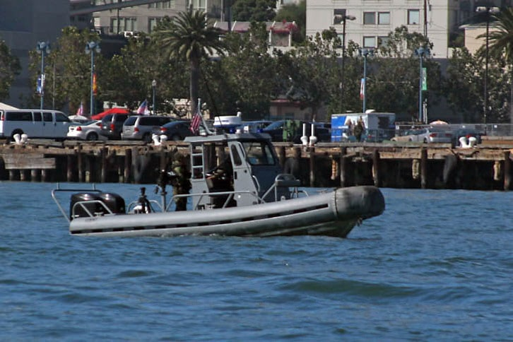 Security Boat at Fleet Week
