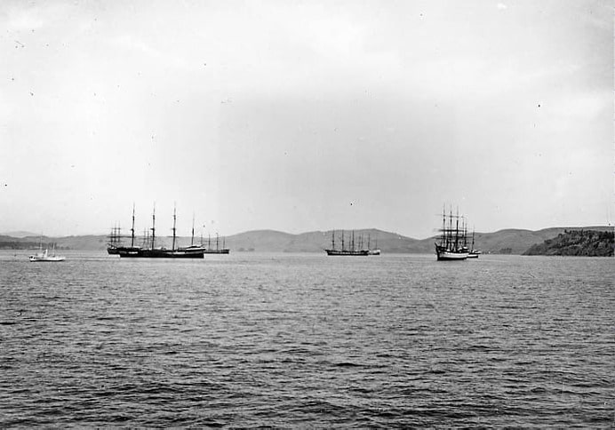 Ships Anchored off Sausalito